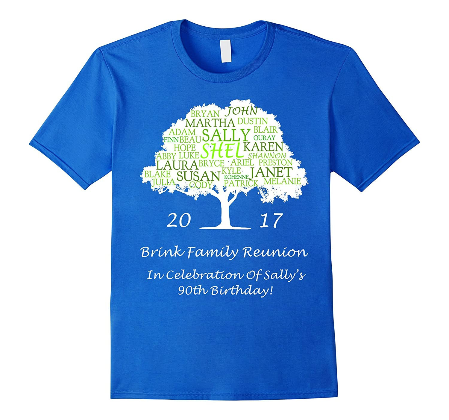 Brink Family Reunion Sallys 90th Birthday T Shirt CL