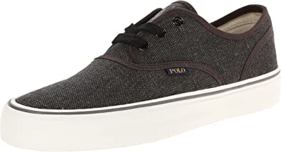 Brand New Ralph Lauren Polo Vaughn Canvas shoes Grey boys vtg