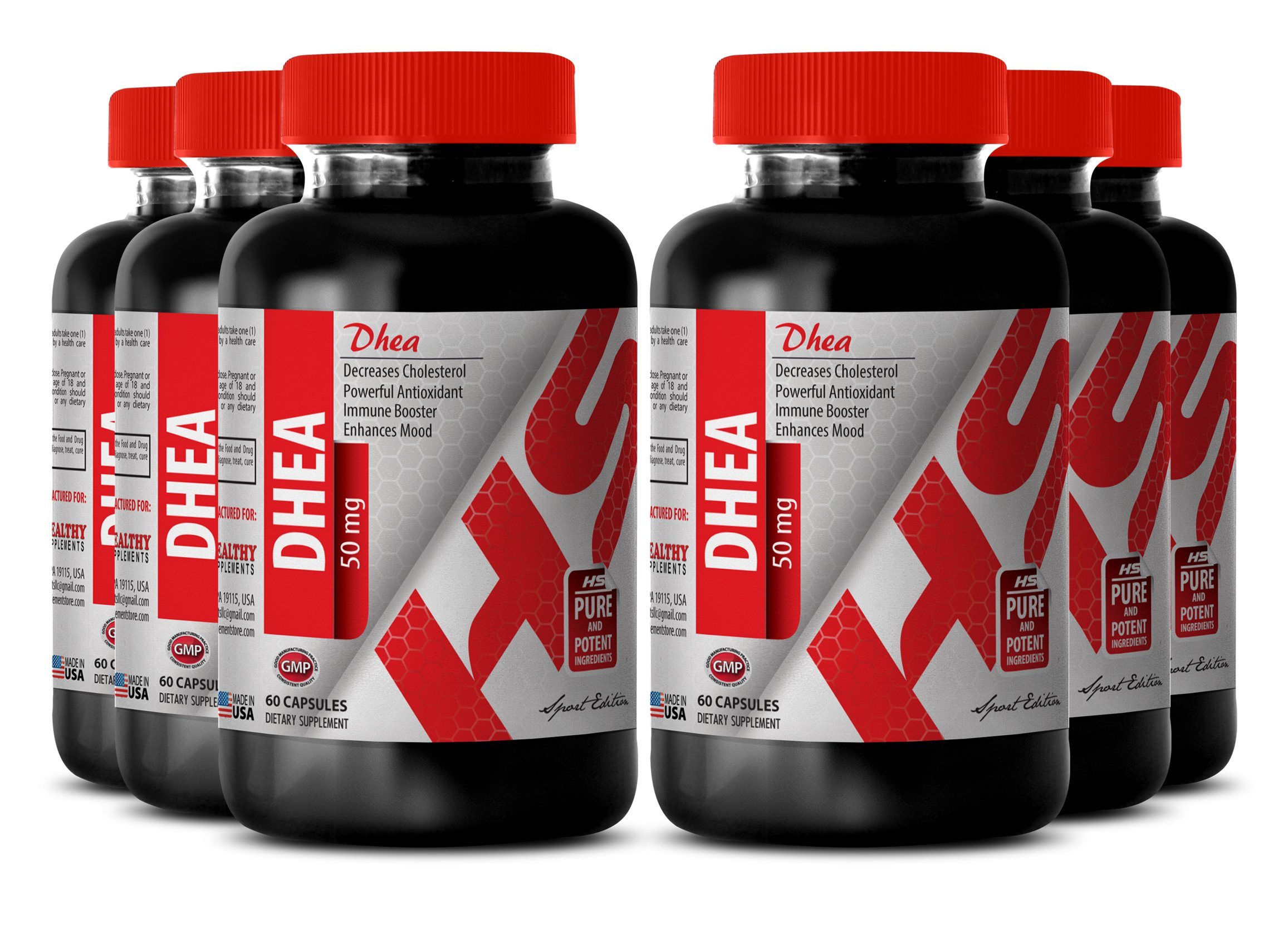 Dhea organic – DEHYDROEPIANDROSTERONE DHEA 50 MG - promote sexual function (6 Bottles)