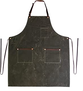 product image for Industry Apron - Waxed Canvas - Dark Oak - Made in USA