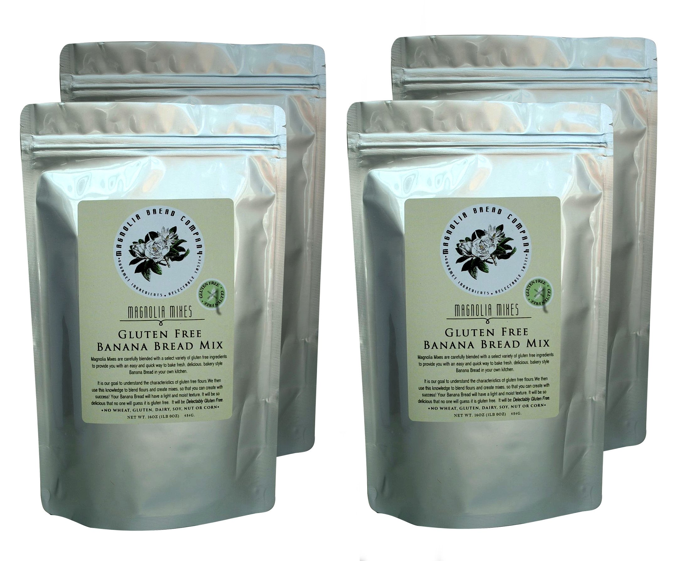 Gluten Free Banana Bread Mix by Magnolia Mixes (Pack of 4)