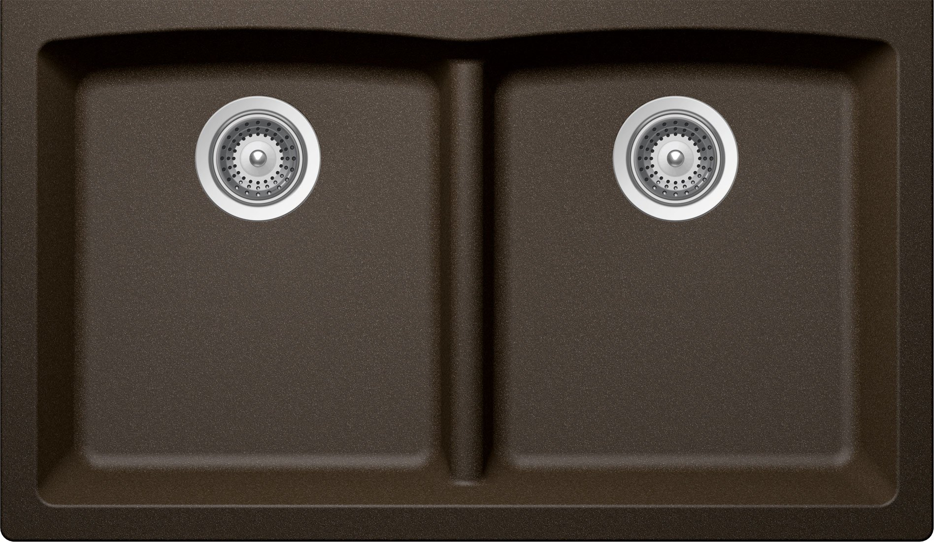 SCHOCK EDON200YU087 EDO Series CRISTADUR 50/50 Undermount Double Bowl Kitchen Sink, Bronze by Schock