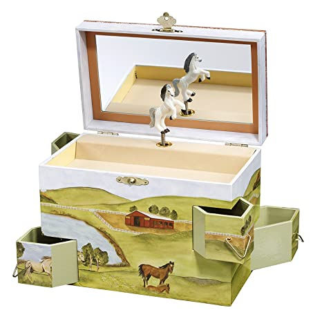 Horse Jewelry Box Delectable Amazon Enchantmints Hideaway Horse Music Jewelry Box Toys Games