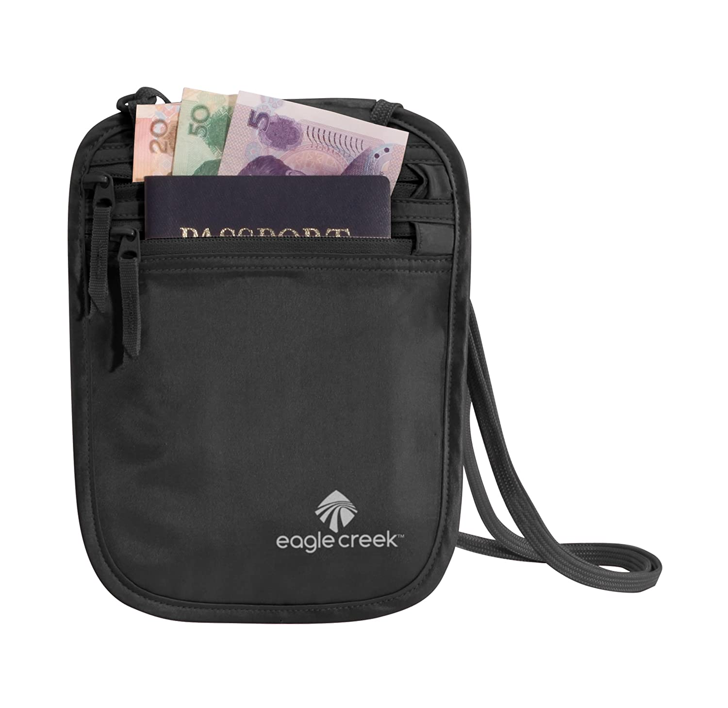 6caeed6d5421 EAGLE CREEK TRAVEL GEAR Undercover Silk Neck Wallet, Black