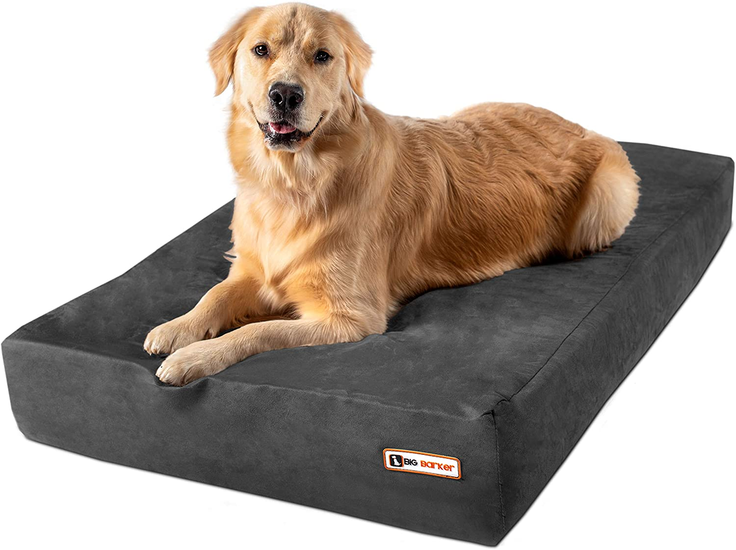 Big Barker 7 Pillow Top Orthopedic Dog Bed For Large And Extra Large Breed Dogs Sleek Edition Large 48 X 30 X 7 Charcoal Gray Kitchen Dining