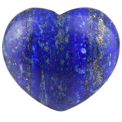 amazon com rockcloud healing crystal lapis lazuli heart love carved