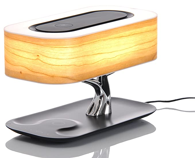 Lámpara Árbol Luxe LED – Cargador Qi inalámbrico inducción Smartphone para iphone 8, x, S8, S9, etc.