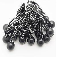 GQC Bungee Cord Ball, 25 Stks Tarp Bungee Ball 6 Inch Elastische Touw Stropdassen dekzeil banden Down Cord voor Banner…