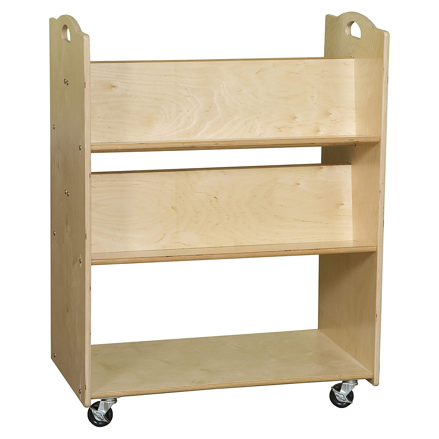 Image of Contender Mobile Library Cart-RTA Book Display & Storage