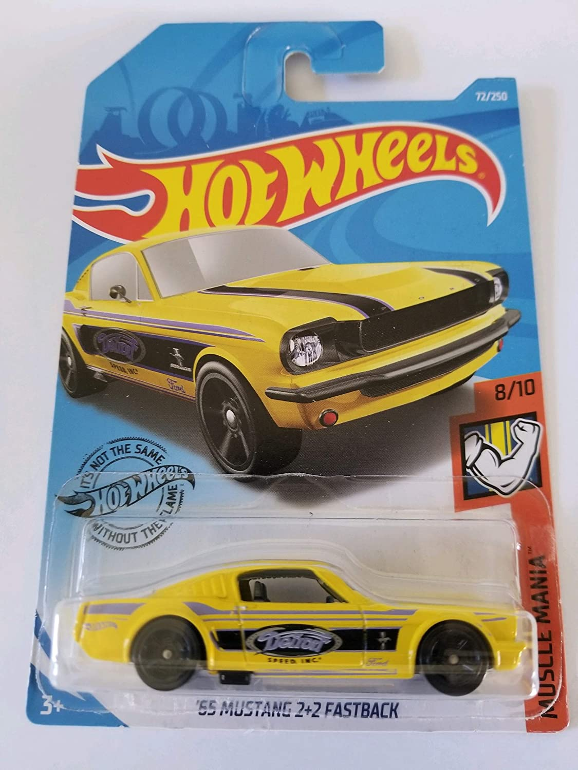 HOT WHEELS MUSCLE MANIA SERIES /'65 MUSTANG 2+2 FASTBACK  #8//10 OR #72//250