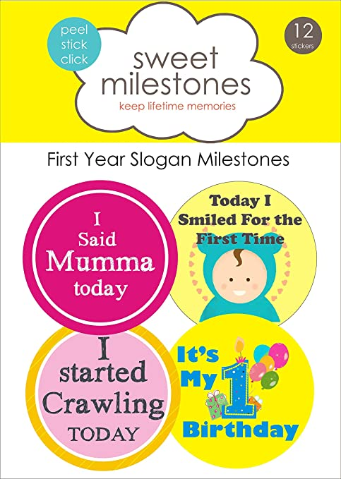 Buy Sweet Milestones First Year Baby Monthly Stickers 12
