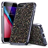 "iPhone 8 Plus Case, iPhone 7 Plus Case, ESR Glitter Bling Hard Cover with Dual Layer Structure [Hard PC Back Outer + Soft TPU Inner] for Apple 5.5"" iPhone 8 Plus/ iPhone 7 Plus(Black)"