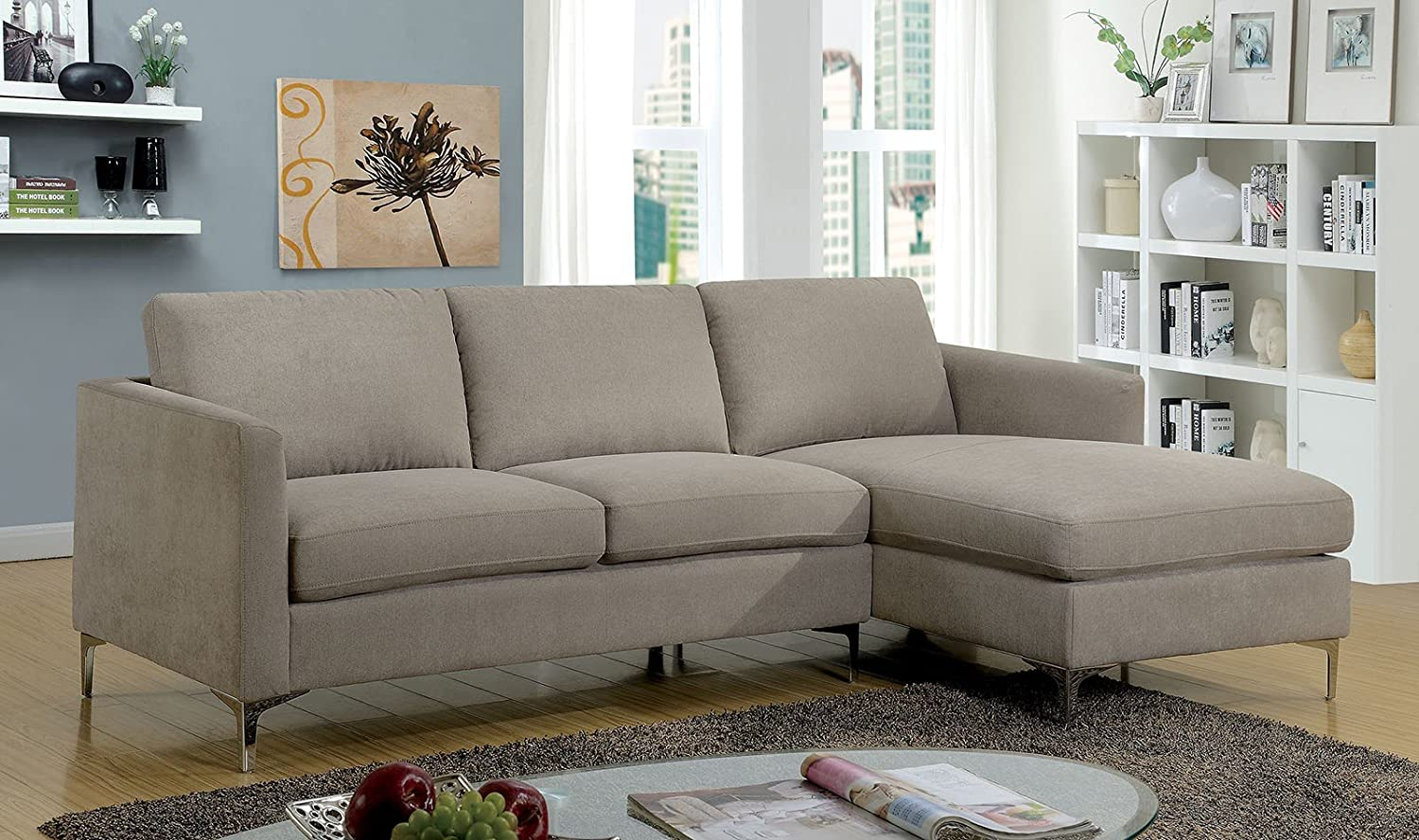 Amazon.com: Esofastore Living Room Classic Look Sectional ...