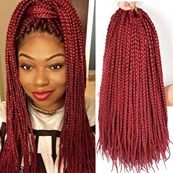 Amazon 40 PacksLot 40 StrandsPack Thin Box Braids Crochet Awesome Crochet Braid Pattern For Thin Hair