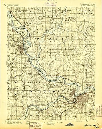 Amazon.com : YellowMaps Kansas City MO topo map, 1:125000 ...