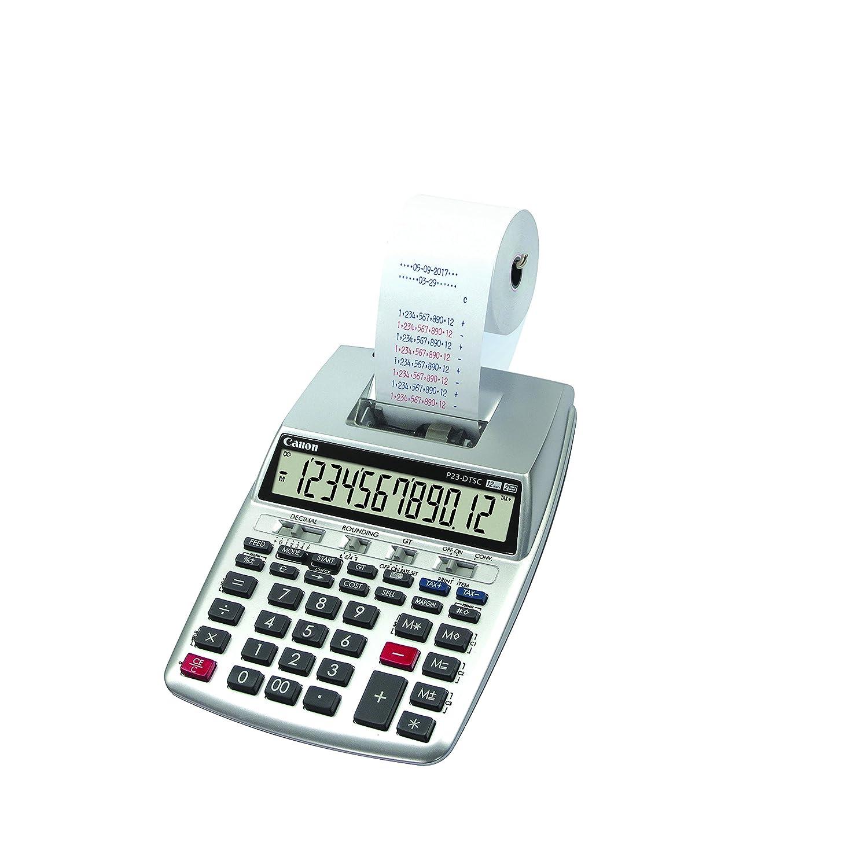 Calculadora impresora Canon P23-DTSC plata: Canon: Amazon.es ...