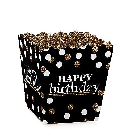 Amazon.com: Adulto Feliz cumpleaños – Oro – Candy Boxes mano ...