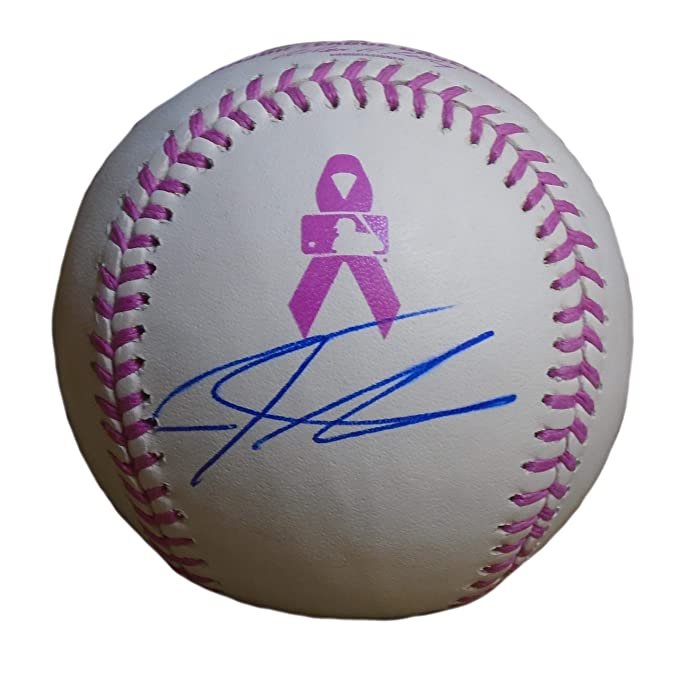cf8a51db3 Texas Rangers Josh Hamilton Autographed Hand Signed Rawlings Official MLB  Breast Cancer Awareness Mother s Day Pink Baseball with Proof Photo of  Signing