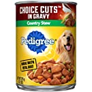 PEDIGREE CHOICE CUTS IN GRAVY Regular & High Protein Adult Canned Wet Dog Food, 13.2 oz. (Pack of 12)