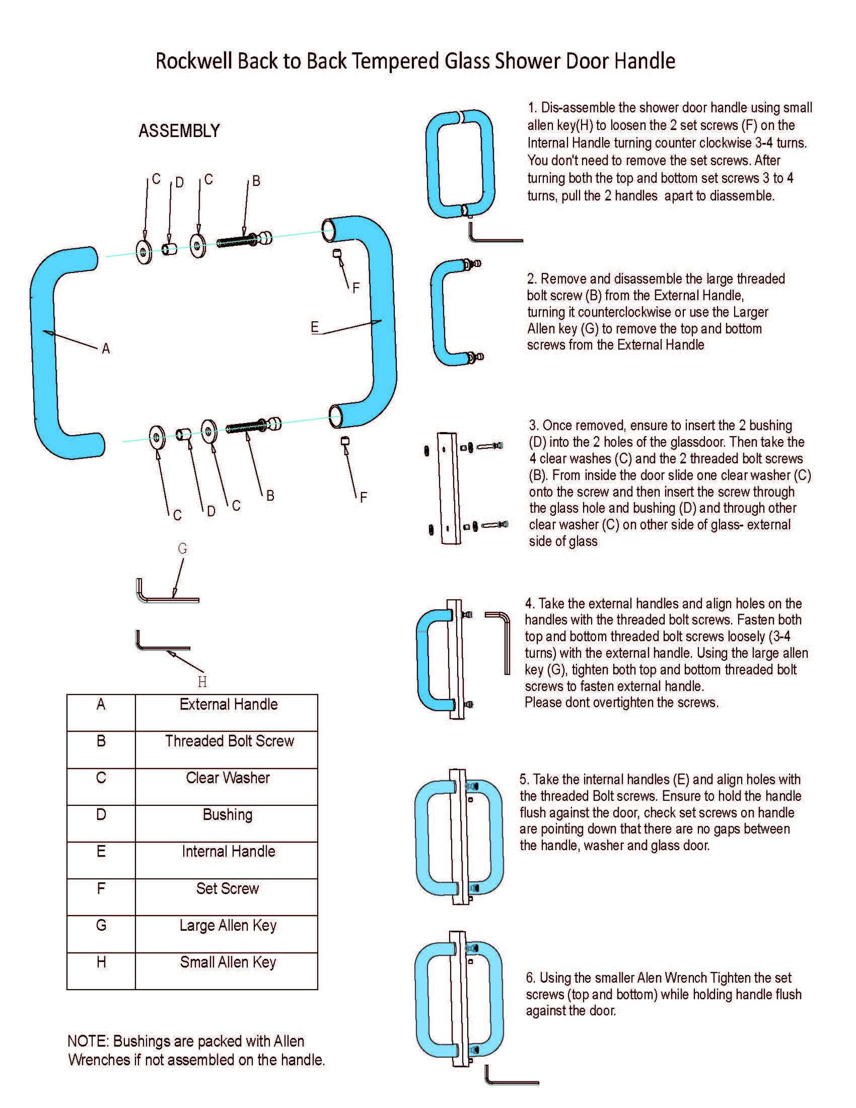 Mont Hard 8inch; Back to Back Tubular Pull in Brushed Nickel Finish for Heavy Glass Frameless Shower Doors