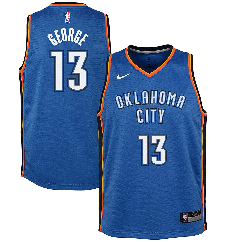 54fd0a301e7 Amazon.com : Nike Youth Paul George Oklahoma City Thunder Icon Edition  Jersey - Blue : Clothing