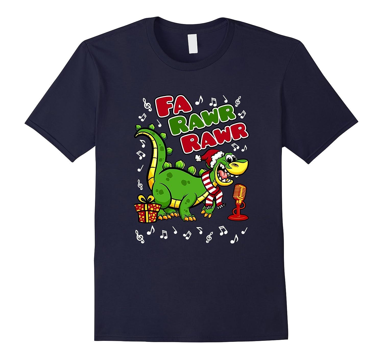 Dinosaur Christmas T-Shirt -- Fa Rawr Rawr-FL