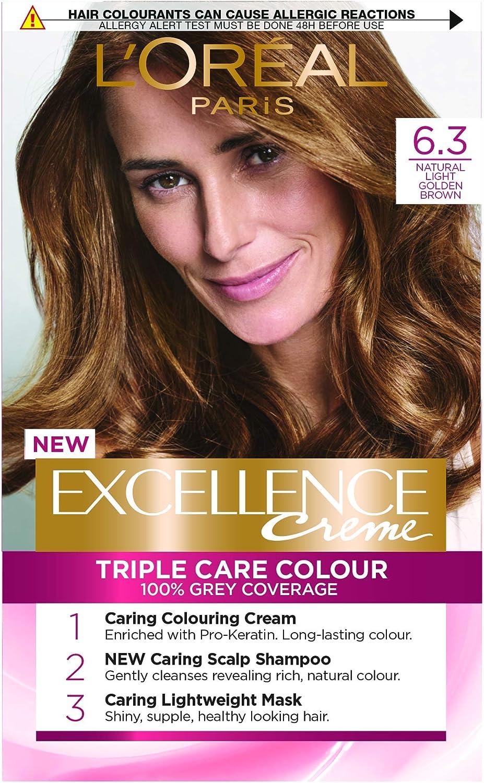 LOréal Paris Excellence Creme Triple Care Crème Colour 6.3 Natural Light Gol...