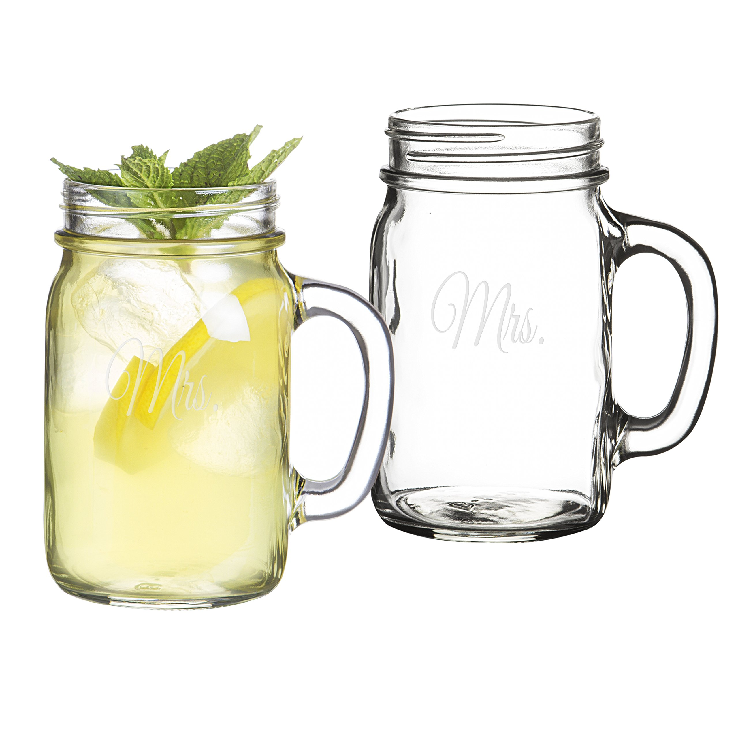 Cathy's Concepts Mrs. & Mrs. Old Fashioned Drinking Jar Set by Cathy's Concepts (Image #5)