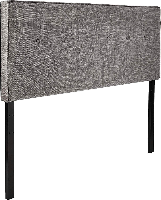 Amazon Brand – Ravenna Home Haraden Modern Rectangular Button-Tufted Queen Bed Headboard, 62