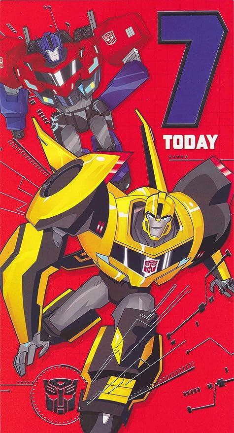 Amazon.com: Transformers 7 hoy tarjeta de cumpleaños: Toys ...