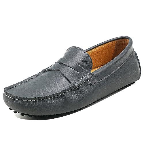 Shenduo Hombre Zapatos Casuales - Mocasines de Cuero Suave sin Cordones cómodos para Hombre D7152: Amazon.es: Zapatos y complementos