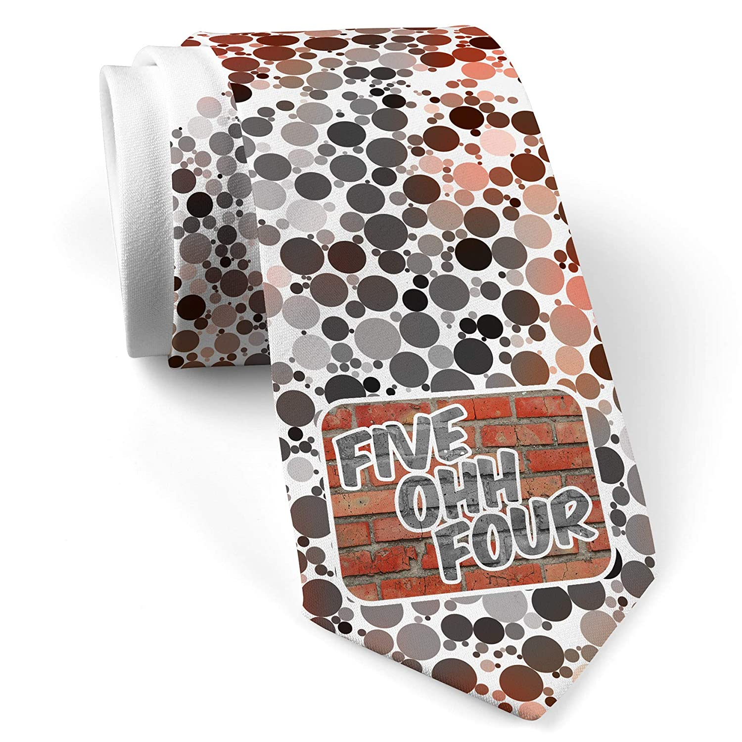 Neck Tie with 504 New Orleans, LA brick White with Color