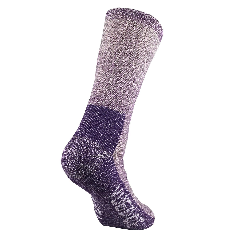 YUEDGE Mujer Calcetines de Lana - Gruesa Suave Cómodo Calcetines de Lana Para El senderismo en Invierno u Otras Actividades al Aire Libre (Púrpura) : ...