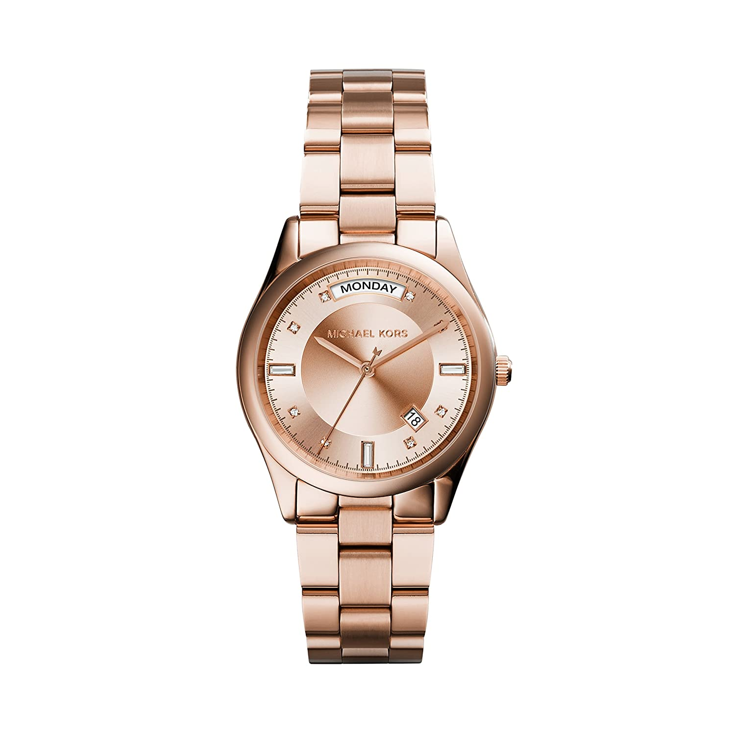 Amazon.com: Michael Kors Womens Colette Watch, Rose Gold, One Size: Michael Kors: Watches