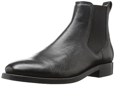 ALDO Men's Gilmont Chelsea Boot, Black Leather, ...