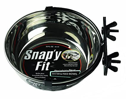 West Stainless Steel Snap'y Fit Water and Feed Bowl