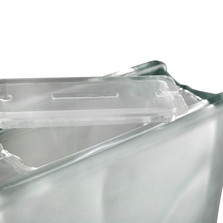 Fuchs Design 5 St/ück Dekoglasstein Milchglas mit /Öffnung und M/ünzschlitz Spardose Geldgeschenk