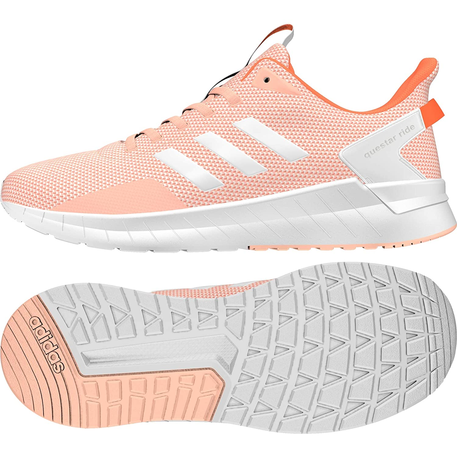 adidas Women's Questar Ride, HAZCORFTWWHTHIREOR, 7 US