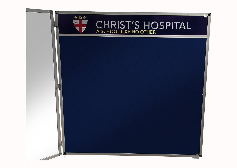 Tamperproof Lockable Notice Board Header 1200mm x 900mm Grey