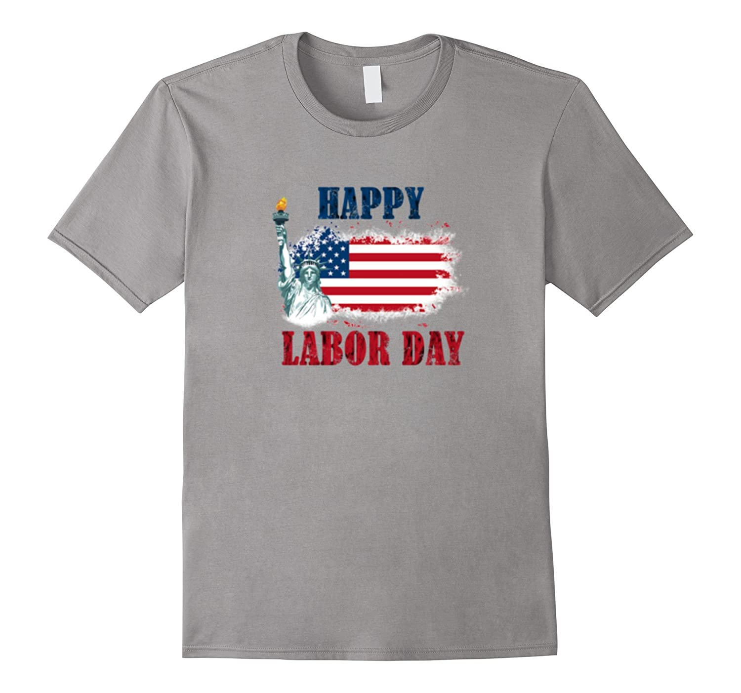 Labor Day T shirt With American Map Flag for Patriots-BN