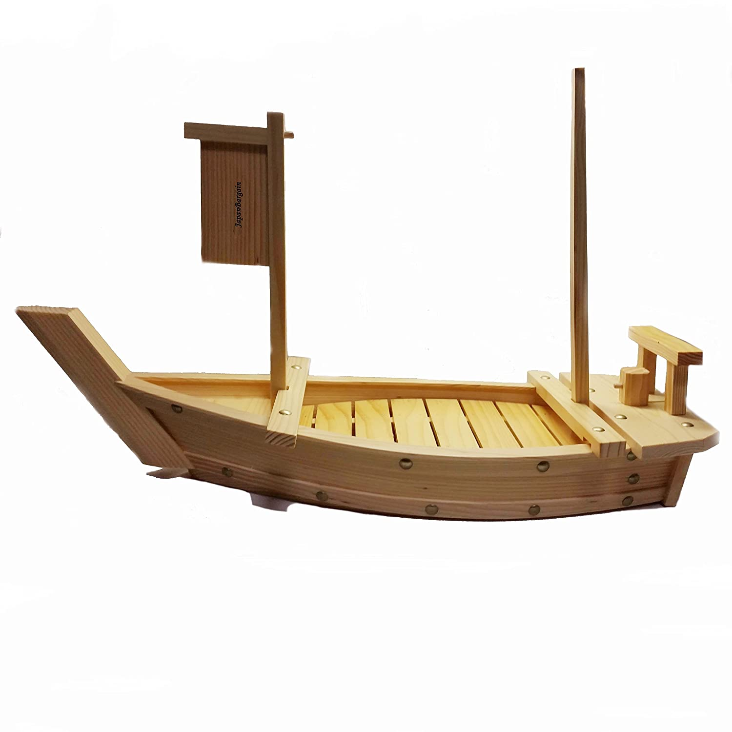JapanBargain S-1582, Wooden Sushi Boat Serving Tray
