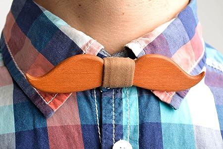 Corbata de lazo artesanal pajarita moderna en forma debigotes ...