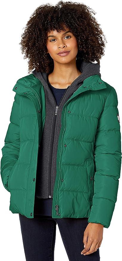 Tommy Hilfiger Short Down Alternative Jacket With Zip-Out Fleece Hood (Women's)