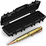 .308 Real Bullet Authentic Brass Casing Refillable Twist Pen - Tactical Gift Box - Polished Brass