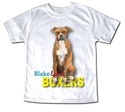 Amazon com: Child Personalized Baby Boxer Breed Dog Puppy