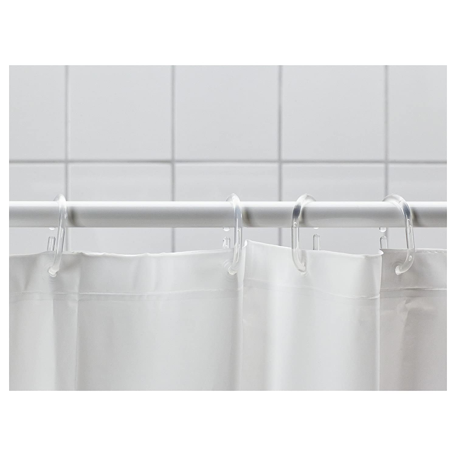 Amazon.com: Ikea Shower Curtain Rings, 12 Pack, Clear: Home & Kitchen