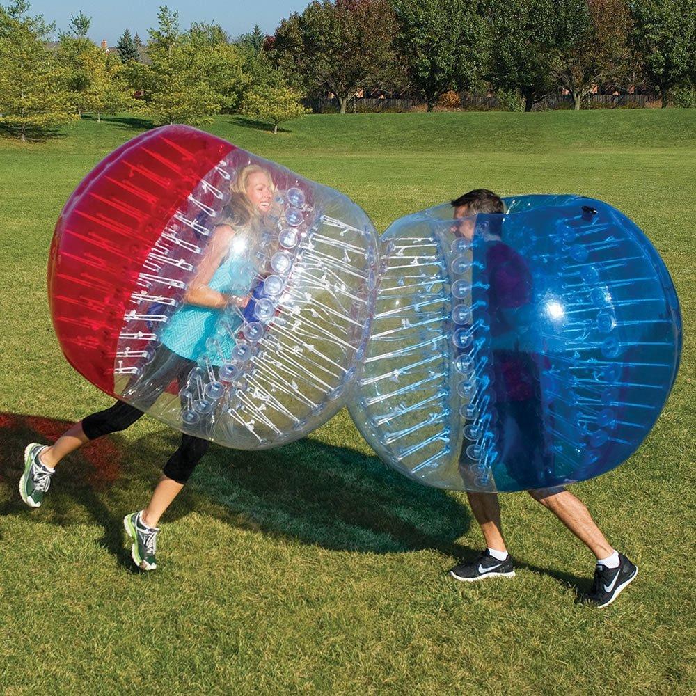 bubbleu24 (TM) 2 Paquete de pelotas de burbujas para abrazadera de metal inflable fútbol burbuja parachoques juego de pelota tamaño adulto 5