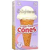 ENLIGHTENED ICE CREAM Sugar-Free Ice Cream Cones - Vegan Friendly, Sugar Free, Dairy Free - Low Calorie (30 Calories) - Low C