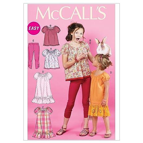 Amazon Mccalls Patterns M6500 Childrensgirls Tops Dresses