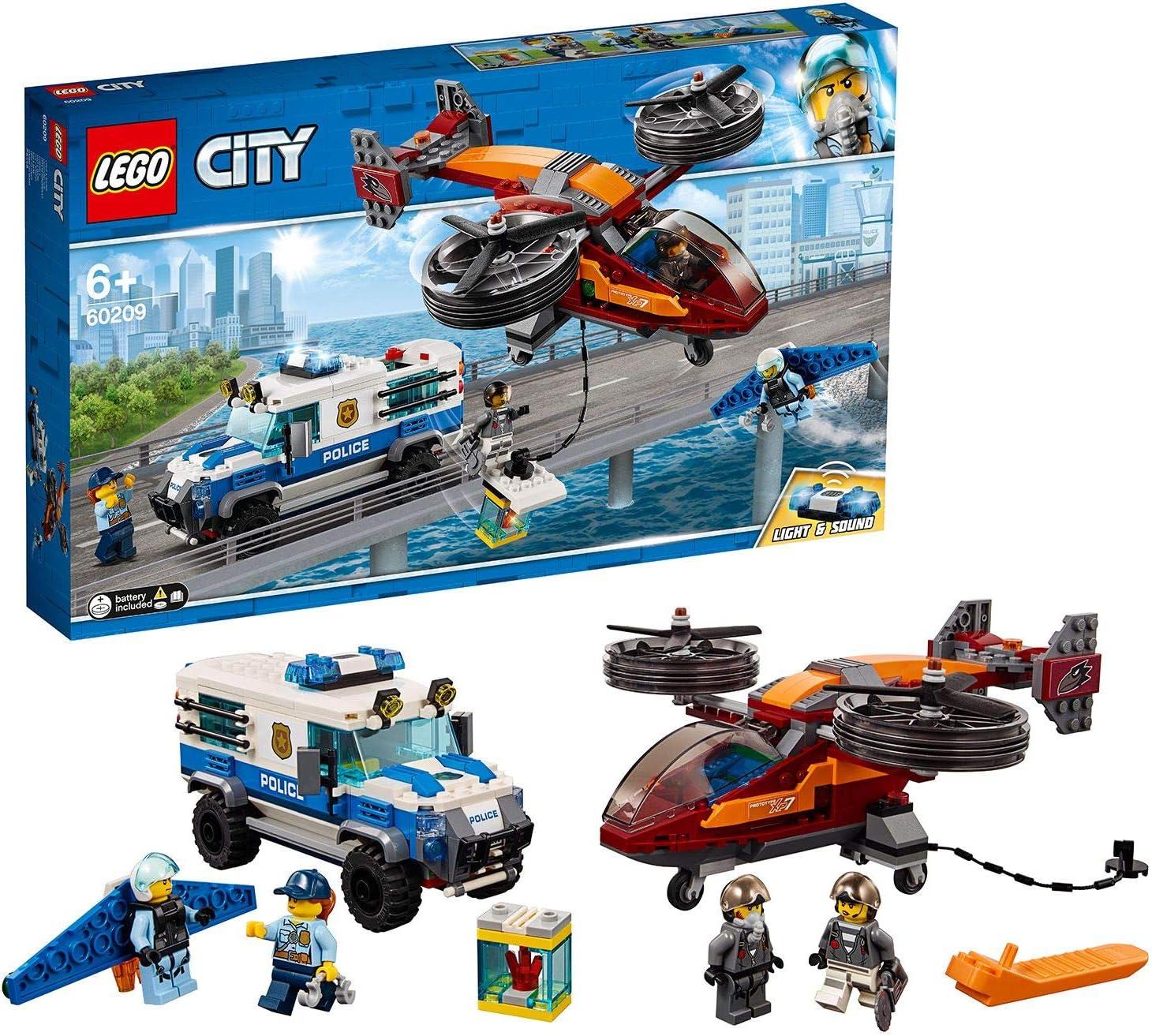 LEGO 60209 City Police Policía Aérea: Robo del Diamante ...
